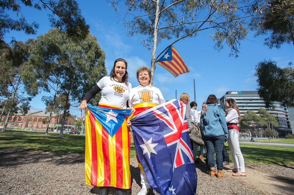 Membres Casal Català de Victòria al Docklands Park