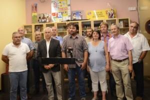 La roda de premsa amb la majoria d'alcaldes del Lluçanès // F: Eva Freixa