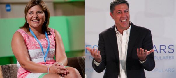 Isabel Bonig i Xavier García Albiol.