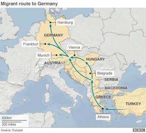 Ruta emigrants sirians BBC