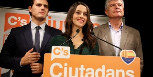Rivera, Arrimadas i Alonso, de Ciutadans.