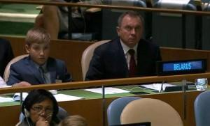 Bielorrúsia, Belarús, Lukashenko fill ONU