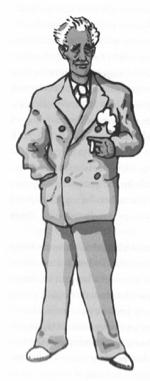 Lluís Companys (Il·lustració de Quim Roser al llibre 'Retrat d'un magnicidi' editat per Ara Llibres).