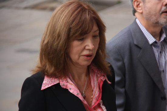L'ex-directora de l'IES Pedraforca Dolores Agenjo arriba al TSJC.