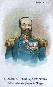 """Cromo de la sèrie """"La guerra ruso-japonesa"""" d'Amatller, impresa per H. Miralles."""