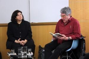 Mary Ann Newman i Quim Monzó, autor que també ha traduit (Foto: ACN)
