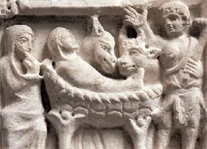 Sarcòfag de la Nativitat. Cripta de l'Església de Sant Honorat. Arles