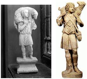 El bon pastor grec i el romà.