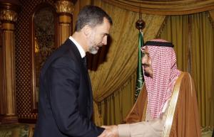 Felip VI i el Rei de l'Àrabia Saudí
