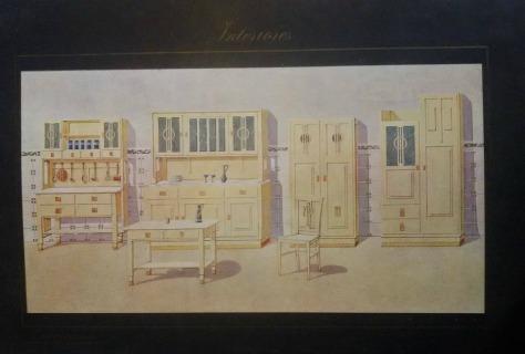 """Cuina en una làmina de la publicació 'Interiores: comedores, dormitorios, salones, despachos, etc.', portfoli editat """"Ediciones artísticas"""". Barcelona, c. 1880."""