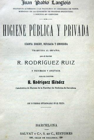 Edició barcelonina de l'obra del francès Jean-Paul Langlois, amb els comentaris de Rodríguez Méndez, deixeble de Monlau.