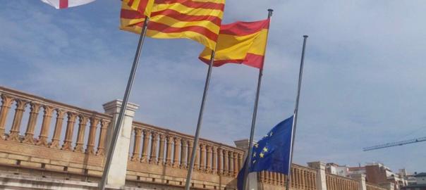 Bandera europea Ajuntament de Barcelona
