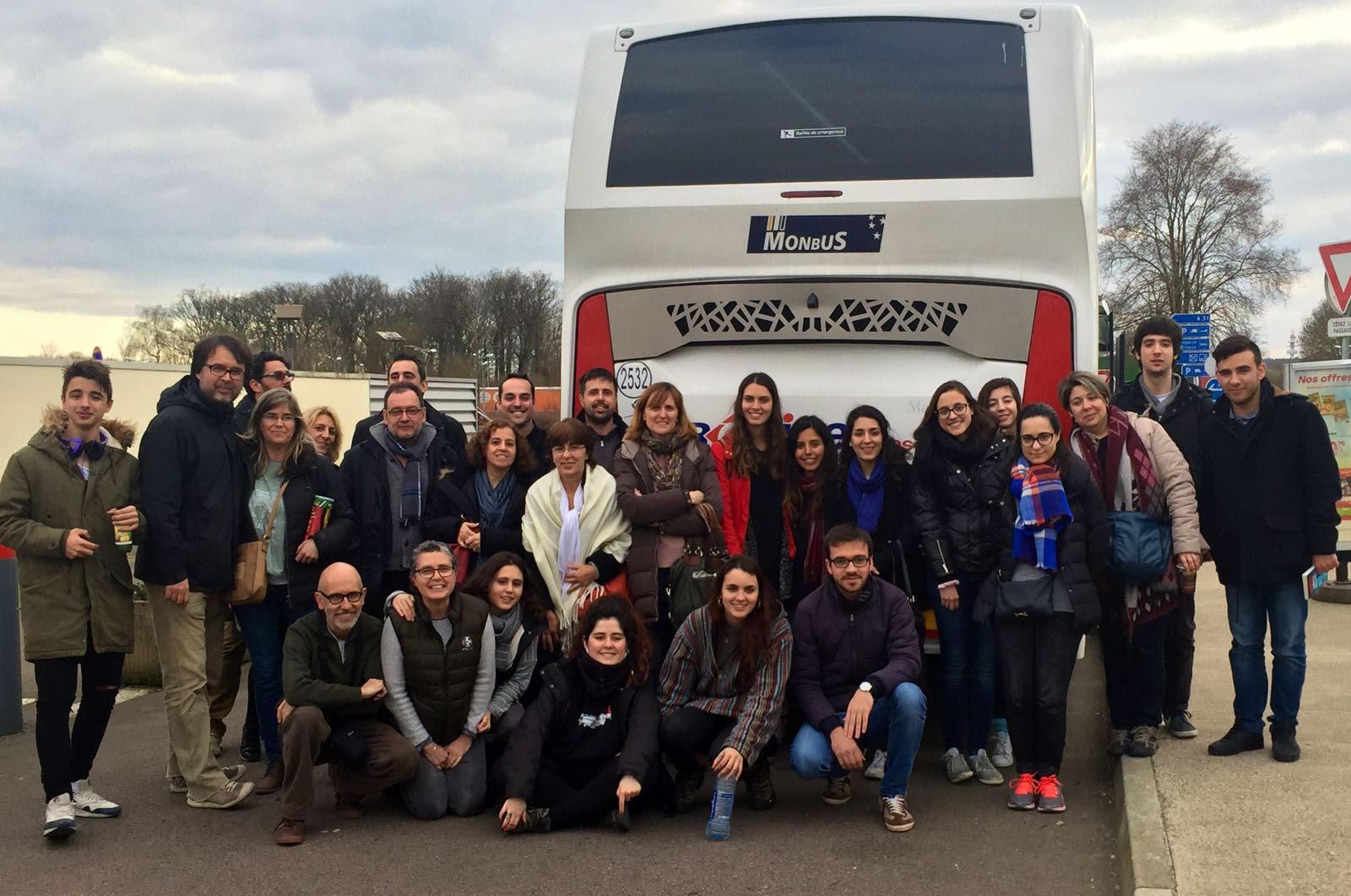 Grup de catalans que va abandonar Brussel·les en autocar, després dels atemptats
