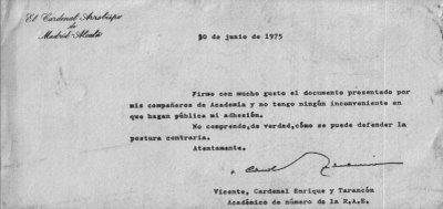 Tarancon donà suport al dictamen de l'Academia de la Lengua sobre la unitat de la llengua
