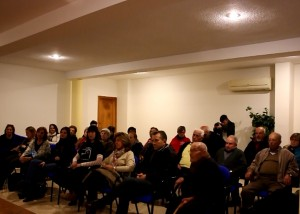 Reunió a l'ajuntament de Benissuera