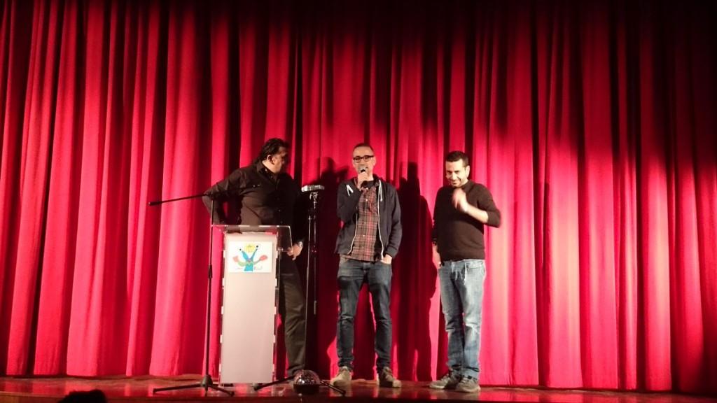 Xavi Sarrià i Miquel Gironés en la presentació de la Trobada 2016
