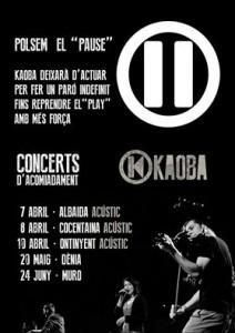 Concerts aturada Kaoba