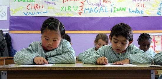 Alumnes de primer de Primària de l'escola Santa Caterina de Vic