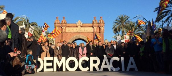 Thousands hit the streets to support those summonsed for 9N symbolic vote on independence