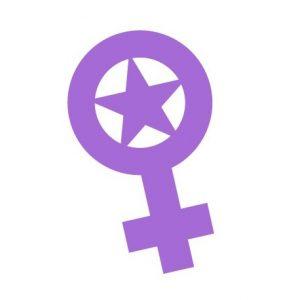 adhesiu simbol feminista