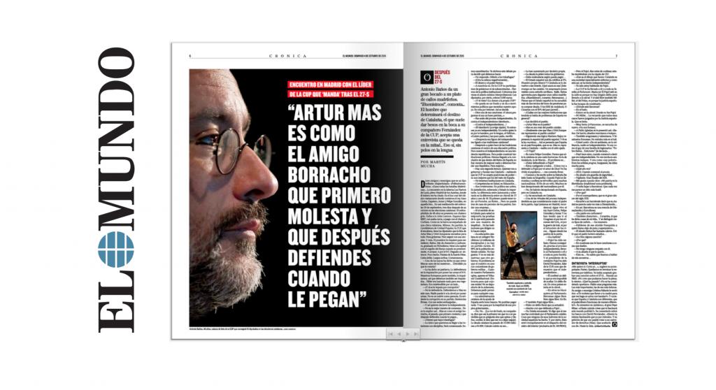 Antonio Baños va desautoritzar la suposada entrevista d'avui a El Mundo