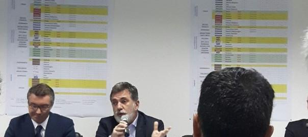 Mario Peralda durant la conferència de premsa.