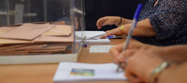 Mesa electoral 14 febrer eleccions