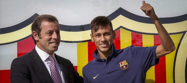 Neymar i Sandro Rosell