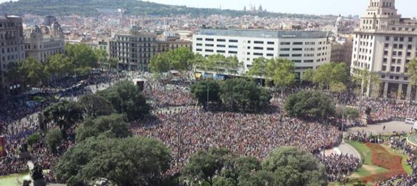 Resultat d'imatges de imatges manifestacio barcelona no tinc por