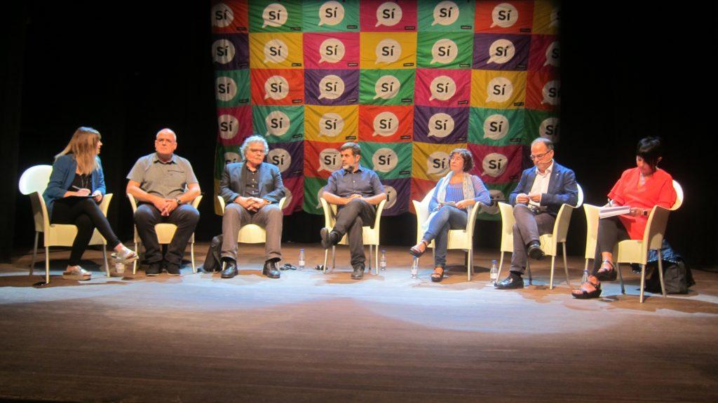 Sànchez, Tardà i Turull debaten sobre l'1-O amb dirigents del PNB i de Bildu
