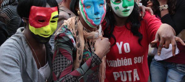Manifestació de prostitutes a Barcelona l'any 2012 // Sergio Uceda