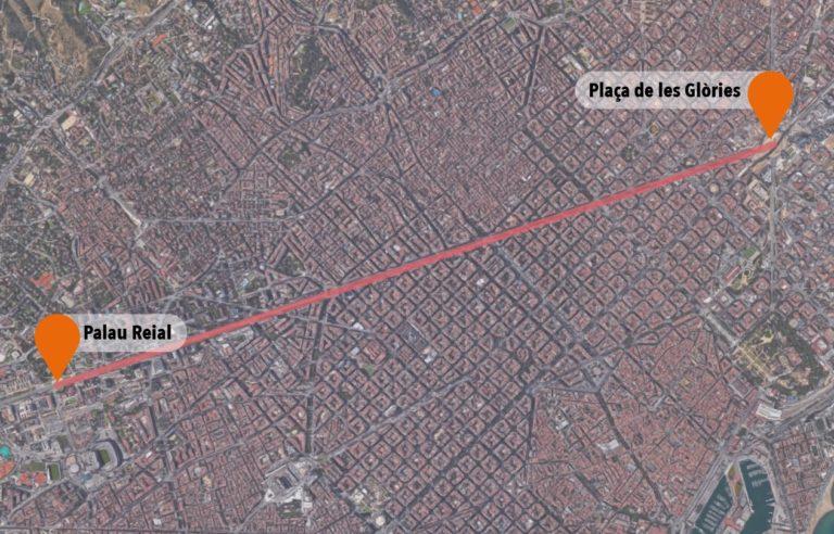 Mapa Trams Diada 2018.Com Arribar Al Tram Corresponent En La Manifestacio De La