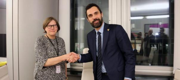 vicepresidenta eurocambra conferencia puigdemont torra