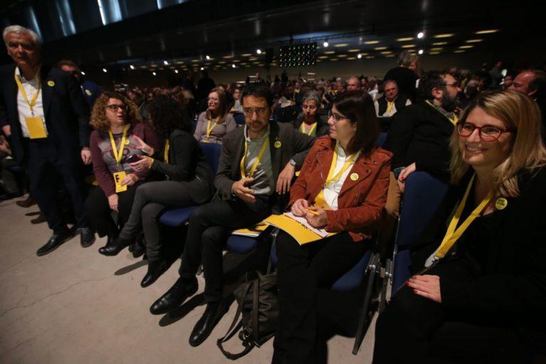 Ferran Mascarell, Marina Geli, Damià Calvet, Gemma Geis i Elsa Artadi.