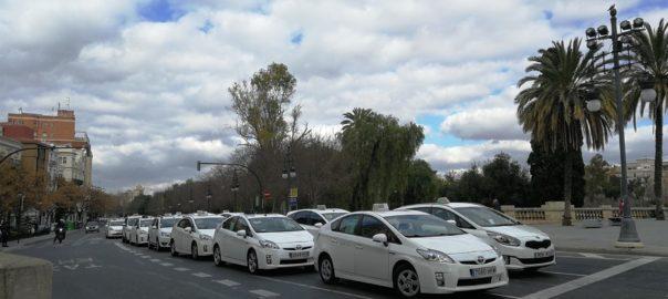 taxistes protesten valencia vtc