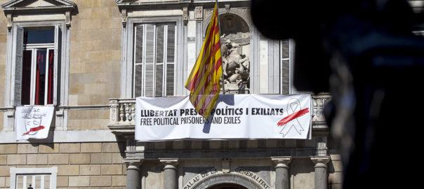 Palau de la Generalitat - Nova pancarta