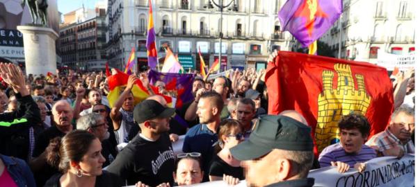 Concentració a Madrid a favor del referèndum de l'1 d'Octubre.