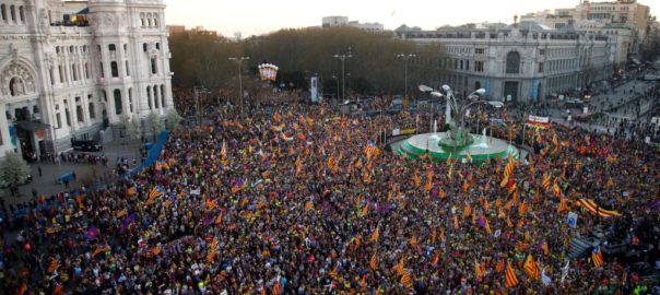 activistes madrilenys judici manifestacio madrid