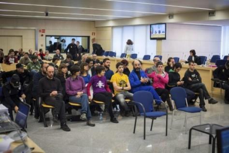 Els vint acusats per l'acció Aturem el Parlament, a l'Audiència espanyola