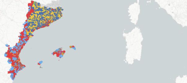 Mapa Interactiu Municipis Catalunya.Mapa Interactiu Els Resultats De Les Eleccions Municipals A Tots Els Paisos Catalans