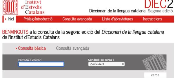 Diccionari llengua catalana