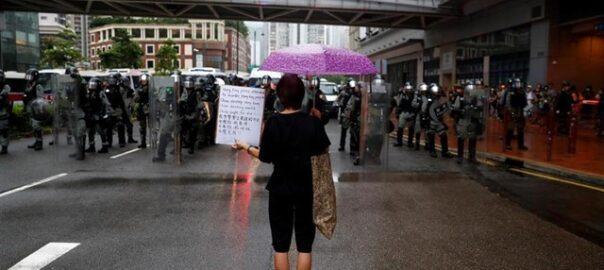 policia protestes hong kong