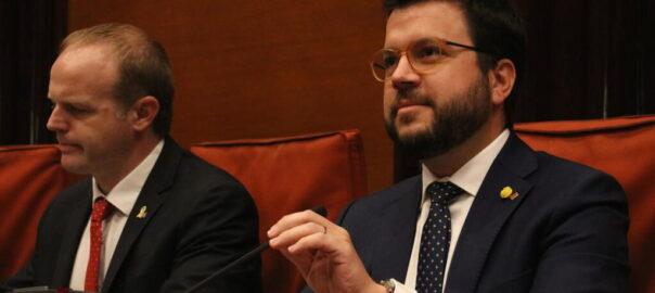 Pere Aragonès i Albert Castellanos