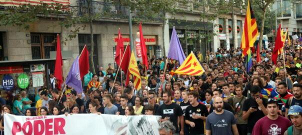 Manifestació esquerra independetista