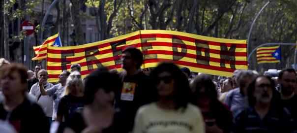 Manifestació per la Gran Via - Freedom
