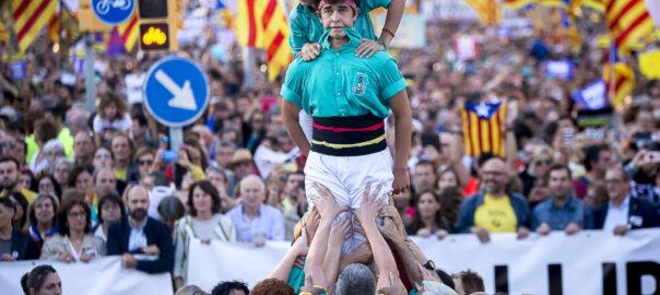 Manifestació unitària contra la sentència al carrer Marina de Barcelona.