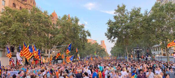 manifestació 1-O Barcelona