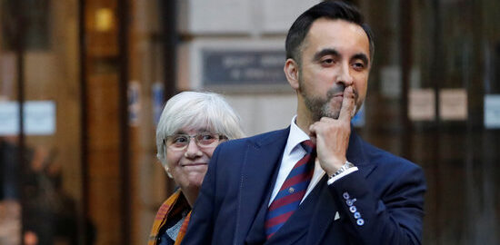 Clara Ponsati and lawyer Aamer Anwar