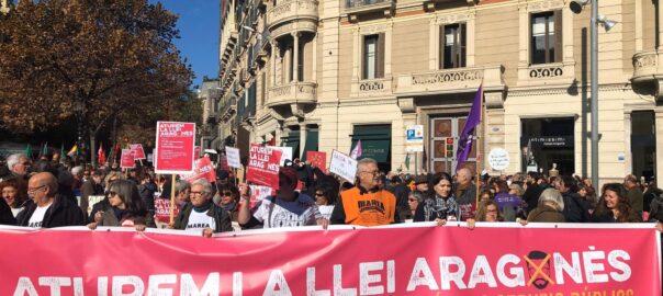manifestació llei aragones