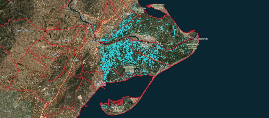 Noves imatges per satèl·lit mostren l'impacte del Glòria sobre el delta de l'Ebre